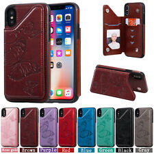 Embossing Butterfly Hot Leather Wallet Anti-fall Case Cover For Various Phones
