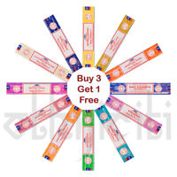 3 or 12 Pack Box Satya Genuine Nag Champa Incense Sticks Joss Mixed Scents