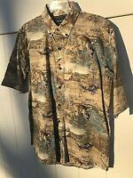 North River Outfitters Shirt Short Sleeve Deer Turkey Hunting 100% Cotton Med FS