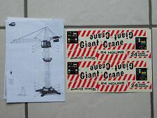 Aufbauanleitung + Aufkleber für Dickie Giant Crane Kran mit quadratischen Fuss