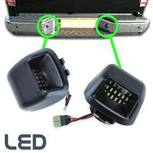 2pcs For Nissan Navara D40 Lamp Bulb LED Rear Bumper License Number Plate Light