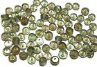 6 pcs MOLDAVITE 5mm Micro-Faceted Rondelle Beads AAA NATURAL /R2