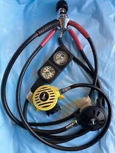 Vintage US Divers Scuba Regulator - 1st and 2nd stages, Octo and Dacor Gauges