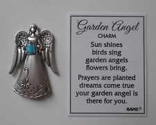 F Holding watering can Garden Angel Pocket Charm mini figurine token Ganz