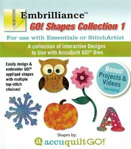 Embrilliance Accuquilt GO! Shapes Collection 1 for Essentials & StitchArtist