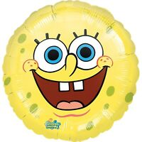 2 x SpongeBob SquarePants 17'' Round Helium Birthday Party Balloon - Twin Pack
