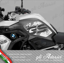 2 Adesivi BMW R 1200 GS LC 2017 RALLYE EXCLUSIVE cover Map White