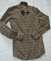 DOLCE & GABBANA ~GOLD~ SMART DESIGNER SLIM FIT FLORAL SHIRT UK 15 EU 38