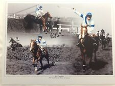 Bob Champion Signed 16x12photo Montage Horse Racing Grand National COA