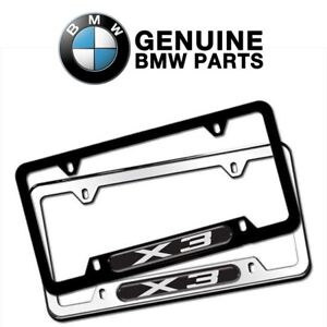 For BMW X3 Stainless Steel License Plate Frame Genuine 82120418626