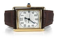 Cartier Tank 2413 26 mm 925 Silber vergoldet Quarz [BRORS 13019]