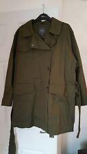 womens NEXT MAC STYLE COAT lightweight , size 14 KHAKI good condition
