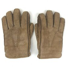 Vintage Brown / Tan Leather Gloves Size Small 8-8.5