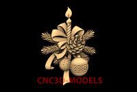 3D Model CNC Router STL File Artcam Aspire Vcarve New Year christmas decor PK39