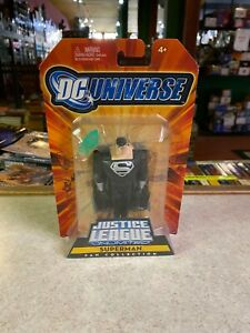 "Mattel DC Universe 4"" Figure NIP Justice League Unlimited BLACK SUPERMAN N3887"