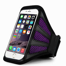 "iPhone 6 Plus 5.5"" Purple Mesh Running, Jogging, Cycling Armband Mobile Phone Co"