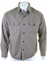 CHAPS Mens Lumberjack Shirt Medium Brown Cotton  DB17