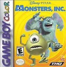 Monsters, Inc. Nintendo Game Boy Color GBC Cartridge Tested ~ Free Shipping ~