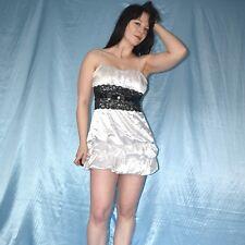 Sucre Blanc Mini-robe * S 36 * satin robe de cocktail * ROBE DE FETE * robe de soirée