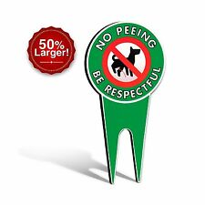 Extra Large No Peeing Dog Signs | Stop Dogs From Peeing On Your Lawn | Sign Poli