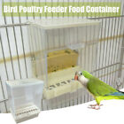 Acrylic Automatic Bird Feeder Pet Feeder Food Container For Parrot.