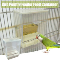 Bird Poultry Feeder Automatic  Food Container Parrot Pigeon  Splash Proof UK