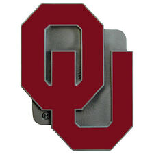NEW OKLAHOMA SOONERS - NCAA PEWTER/ENAMEL CLASS III HITCH COVER PLUG