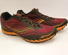 Saucony Progrid Peregrine 2 Mens Size 14 Trail Running Shoes Red Orange 20148-4