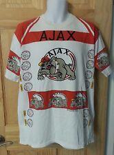 AJAX Amsterdam XL Soccer Football Fan 100% T-Shirt Bulldog White Red