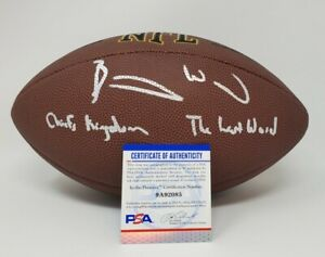 Barry Word Kansas City Chiefs Signed Autographed Football 2 Inscriptions