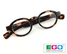 EGO Round Oval Tortoise Keyhole Reader Vintage Classic Reading Glasses +3.25