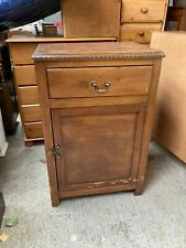Vintage Brown Wooden Cabinet Cupboard with Drawer Kitchen Unit Sideboard