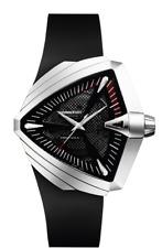 Hamilton H24655331 Ventura XXL Auto Black Dial Rubber Band Men's Watch