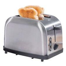 DAEWOO 900w 2 Slice Stainless Steel Toaster Wide Bread Slots Defrost Reheat