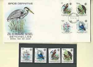 SEYCHELLES ZIL ELWAGNE SESEL OFFICIAL FDC'S 1983 BIRDS DEFINITIVE & SC 50-65 MNH