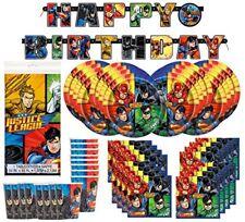 DC Comics Justice League Superheros Birthday Party Supplies Pack Bundle