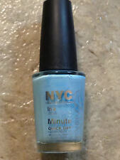 NEW NYC NAIL POLISH BLUE CREME RAINDROP QUICK DRY NEW YORK MINUTE PASTEL PALE LE
