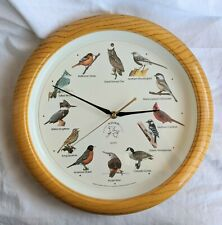 "National Audubon Society 13"" Wall Clock. Singing Bird Songs. Works Fine"