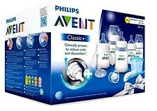 Philips AVENT Bottles Set Newborn Classic Plus  Baby Starter Gift Kit, Clear New