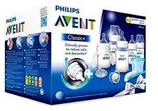 Philips AVENT Bottles Set Newborn Classic Plus  Baby Starter Gift Kit, Clear New