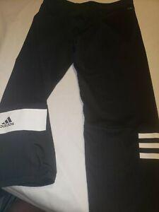 NWT Junior XL/ 16 juniors Adidas Black & White Climate Capris