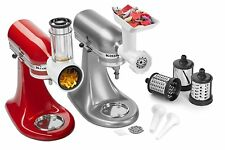 KitchenAid Attachment Pack (Slicer, Food Meat Grinder & Sausage Stuffer) KSMGSSA
