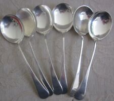 6 vintage 1950s APB A1 silver plated  SOUP SPOONS cutlery