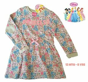 GIRLS KIDS BEAUTIFUL DISNEY PRINCESS JERSEY DRESS AGE 3 - 4 Y YEARS YRS NEW