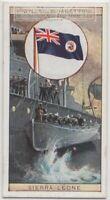 British Colonial Flag Sierra Leone Africa 80+ Y/O Ad Trade Card