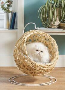 Cat Egg Chair CREAM Rattan ✅🇬🇧UK SELLER 🇬🇧 CREAM & WHITE