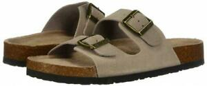 Skechers Women's Luxe Fresh Spirit Two Strap Granola Sandals Footbed, Taupe, 7