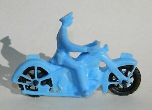 VINTAGE RARE HARLEY DAVIDSON MOTORCYCLE POLICE HUBLEY AUBURN MEXICAN TOY BLUE