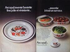PUBLICITÉ DE PRESSE 1977 - ARCOPAL DÉCOR POT-AU-FEU SOLIDE AU FOUR - ADVERTISING