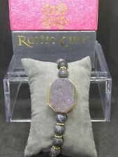 RUSTIC CUFF Find Your FireBlack with Gold Beaded Bracelet - NIB